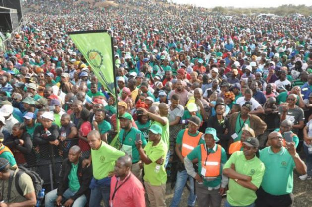 Hundreds of Amcu members attended the 5th anniversary of the Marikana massacre in Nkaneng, Marikana in the North West, 16 August 2017. Picture: ANA Reporter