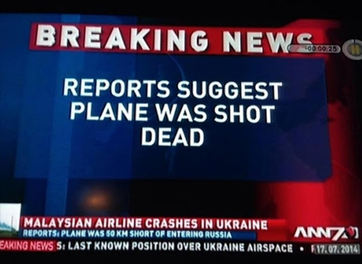 A famous still from a news report gone wrong in the past for ANN7. Picture: Twitter
