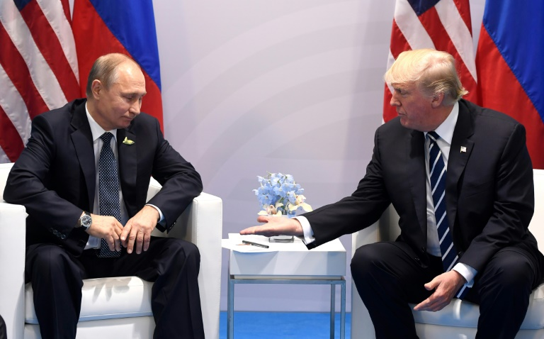 Hopes of improved relations between US President Donald Trump (R) and Russian President Vladimir Putin have soured