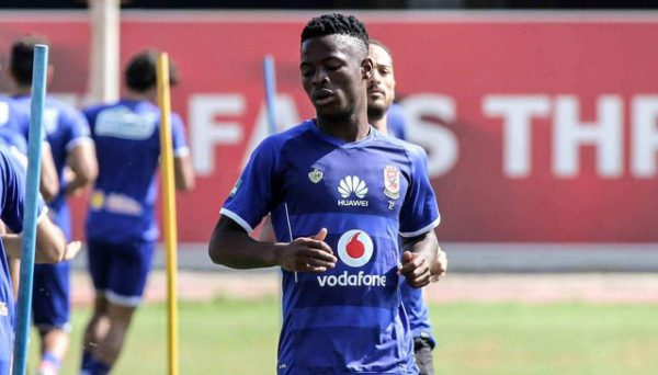 Phakamani Mahlambi training with Al Ahly teammates.