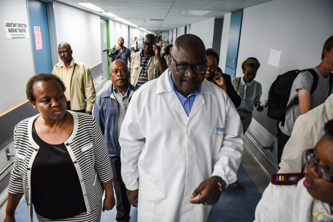 The Premier of Gauteng, David Makhura, is seen at the Steve Biko Public Hospital during a surprise inspection of the facilities, 14 September 2017, Pretoria. Picture: Jacques Nelles
