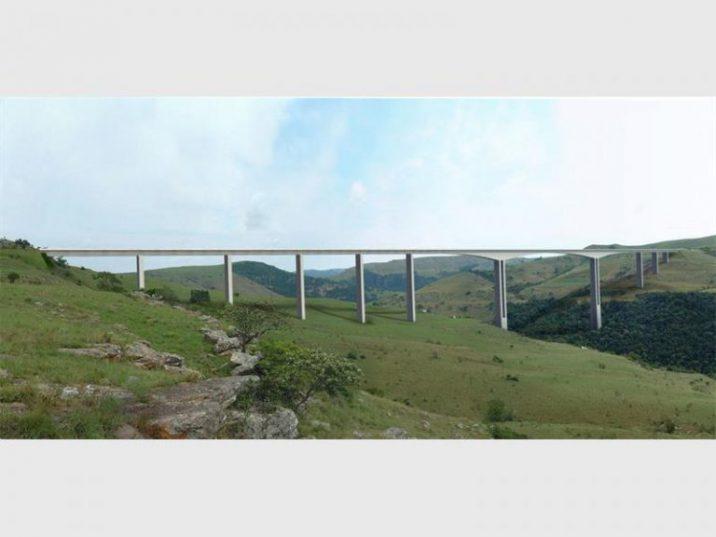 An architectural impression of the Mtentu Bridge.