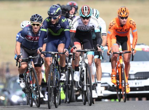 Early race leaders are seen as they start the climb up Redstone Rigg on stage one during the 14th Tour of Britain 2017 on September 3, 2017 in Edinburgh, United Kingdom. (Photo by Ian MacNicol/Getty Images)