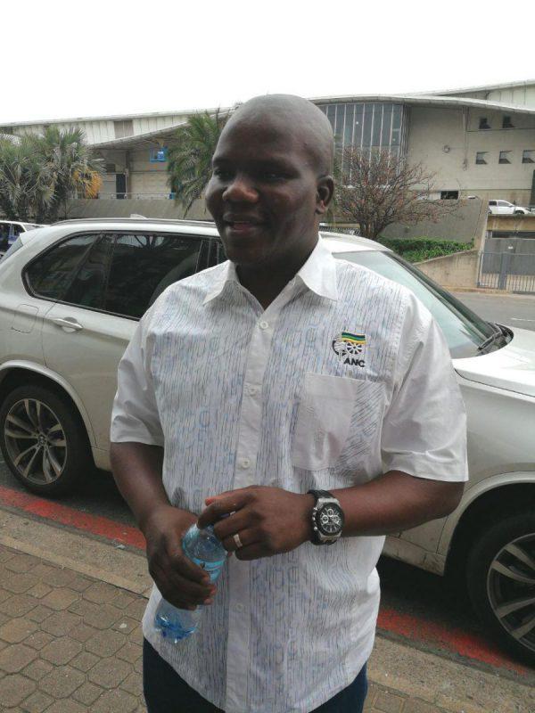 ANC KwaZulu-Natal spokesman Mdumiseni Ntuli at the partys provincial headquarters in Durban on Sunday morning. Picture: ANA