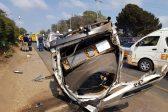 Eleven injured in Johannesburg minibus taxi crash