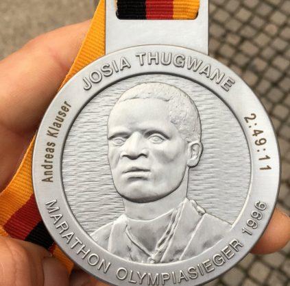 Berlin Marathon Medaille Engraving