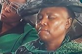 Minister Lindiwe Zulu arrives in helicopter, caught napping at Sindiso Magaqa funeral