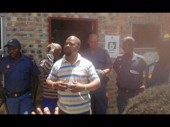 Mr King Mahlangu addressed the community recently.