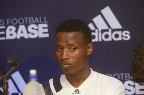 Thamsanqa Sangweni of Orlando Pirates during the Orlando Pirates Kit Launch at Adidas Football Base on July 17, 2017 in Johannesburg, South Africa. (Photo by Sydney Seshibedi/Gallo Images)