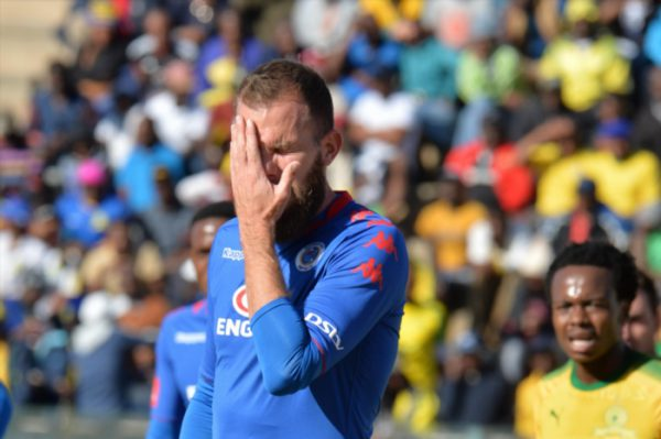 Jeremy Brockie during the Absa Premiership match between SuperSport United and Mamelodi Sundowns at Lucas Moripe Stadium on August 19, 2017 in Pretoria, South Africa. (Photo by Lefty Shivambu/Gallo Images)