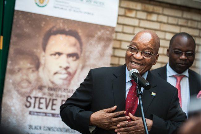 President Jacob Zuma addressing the media at the Kgosi Mampuru Correctional Services Prison during the 40th anniversary of the death of anti-apartheid activist Steve Biko, 12 September 2017, Pretoria. Picture: Jacques Nelles