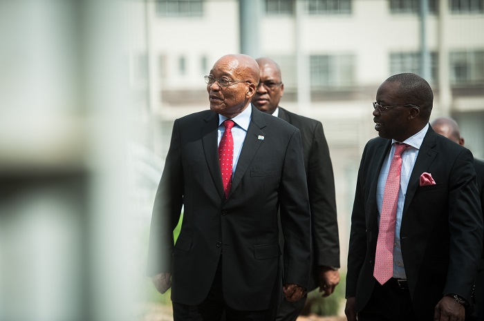 President Jacob Zuma is seen arriving at the Kgosi Mampuru Correctional Services Prison during the 40th anniversary of the death of anti-apartheid activist Steve Biko, 12 September 2017, Pretoria. Picture: Jacques Nelles