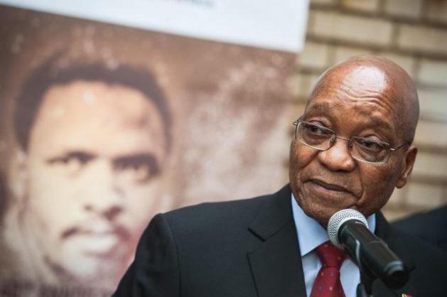 President Jacob Zuma addressing the media at the Kgosi Mampuru Correctional Services Prison during the 40th anniversary of the death of anti-apartheid activist Steve Biko, 12 September 2017, Pretoria. Picture: Jacques Nelles