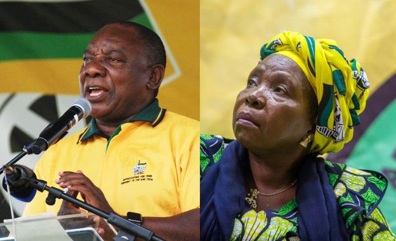 Cyril Ramaphosa and Nkosazana Dlamini-Zuma. Pictures: ANA and AFP