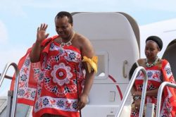 King Mswati's new wife unveiled