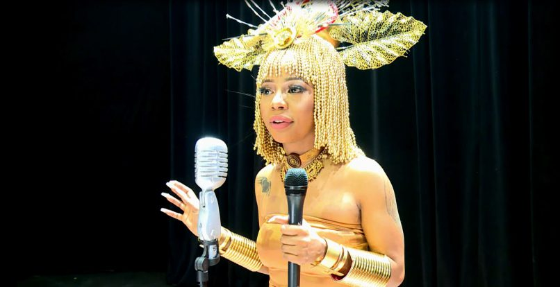 """Kelly Khumalo behind the scenes of """"Themba"""" her music video shoot"""