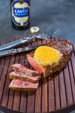 Marinated sirloin steaks and sriracha butter. Picture: Supplied