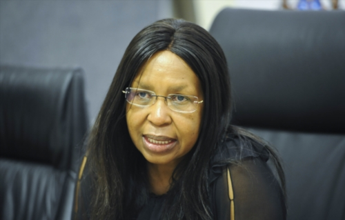 Former Gauteng Health MEC Qedani Mahlangu. (Photo by Gallo Images / Beeld / Simone Kley).