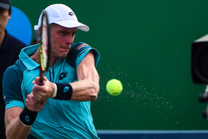Kevin Anderson didn't have a great time in China. Photo: Chandan Khanna/AFP.