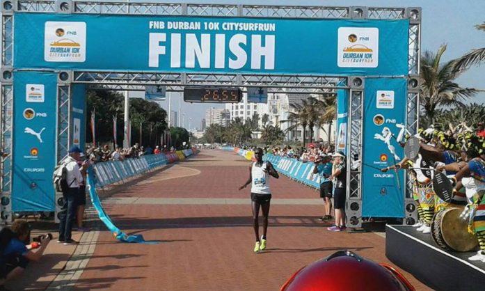 Joshua Cheptegei breaks new ground in Durban