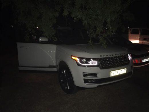 The hijacked Range Rover. Photo: Supplied.