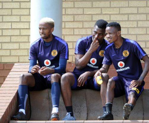 William Twala, Ennocent Mkhabela and Joseph Molangoane during Kaizer Chiefs training (Pic Sydney Mahlangu/ BackpagePix)