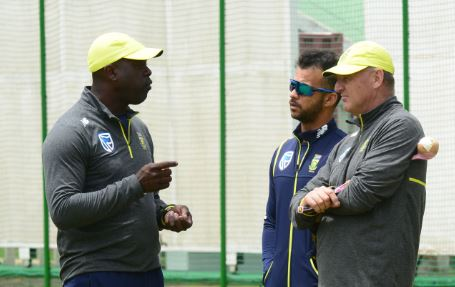It's highly unlikely that Ottis Gibson and Adrian Birrell (R) will be a coaching team anymore. Photo: Lee Warren/Gallo Images.