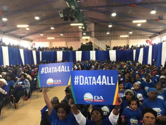 The DA Youth has launched a #Data4All movement and calls on government to intervene in making this notion in South Africa possible, particularly for impoverished students. The DA launched its national campaign at the Nangoza Jebe Hall in New Brighton, Port Elizabeth on Monday. PHOTO: ANA