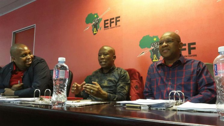 EFF central command meeting, 07 October 2017