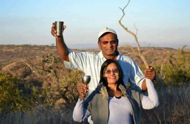 Gona Pillay and her husband, Loga.