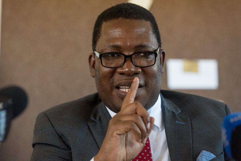 Gauteng education MEC Panyaza Lesufi speaks during a media briefing at Mahlube Secondary School in Mamelodi East on 16 October 2017. The MEC's visit follows an alleged sexual assault of a pupil of the school by one of the school's private security guards. Picture: Yeshiel Panchia