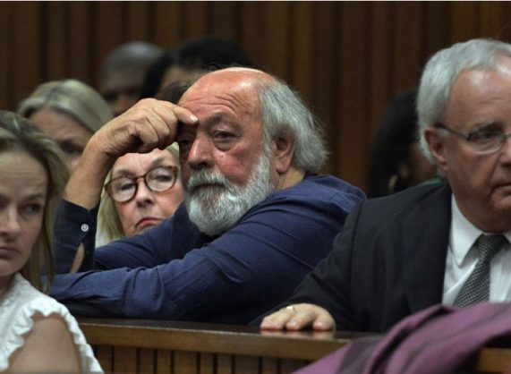 Barry and June Steenkamp, parents of Reeva Steenkamp, attend sentencing proceedings of paralympian Oscar Pistorius at the high court in Pretoria, Wednesday, 15 October 2014. Pistorius was found guilty of culpable homicide for the killing of Steenkamp. Picture:Antoine de Ras/Independent Newspapers/ Pool