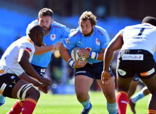 Blue Bulls coach John Mitchell says they've been merely lucky to have gotten away with such a big workload on prop Pierre Schoeman. Photo: Johan Rynners/Gallo Images.
