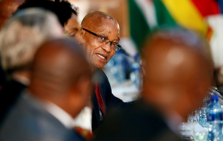 South African President Jacob Zuma has hundreds of corruption charges hanging over him