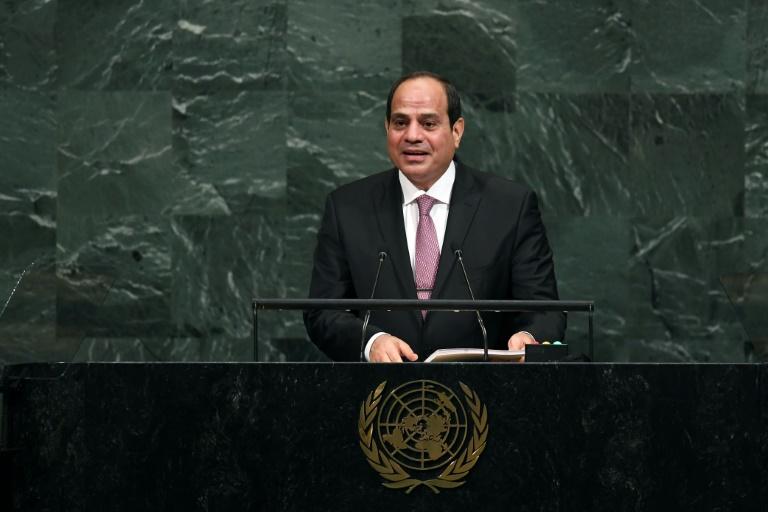 Egypt's President Abdel Fattah al-Sisi addresses the 72nd session of the United Nations General Assembly in New York on September 19