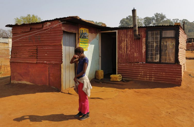 Violent service delivery riot near Soweto, Johannesburg.Millions of poor South Africans live in shacks. EPA/Nic Bothma
