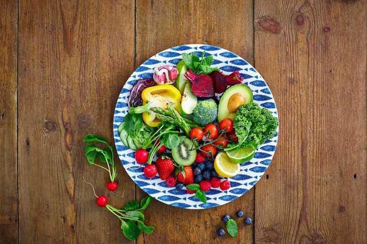 fruits, vegetables, salad