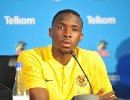 George Maluleka during the Kaizer Chiefs Telkom Knockout press conference at PSL Offices. (Aubrey Kgakatsi /BackpagePix)