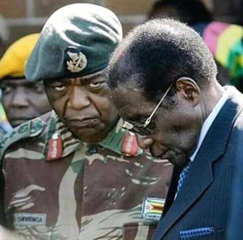 General Constaine Chiwenga and Robert Mugabe. Robert Mugabe