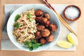 Recipe: Curried pork meatballs with zesty noodles