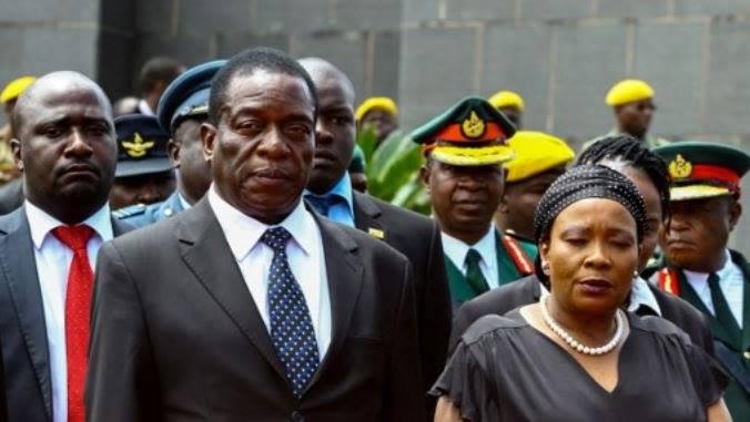 Auxilia and Emmerson Mnangagwa. Facebook.