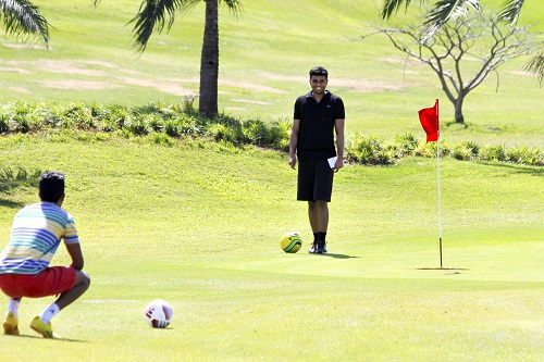 This is how you play FootGolf. Photo: Supplied.