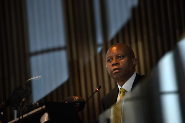 Executive Mayor Herman Mashaba speaks at City of Joburg New Council Chamber,7 Niovember 2017 ,  with MMC for Environment and Infrastructure Services, Cllr Nico de Jager and MMC for Transport, Cllr Nonhlanhla Makhuba and City stakeholders on key City infrastructure which is on the brink of collapse and the solutions which the City will be implemented to arrest the decline. Picture: Nigel Sibanda