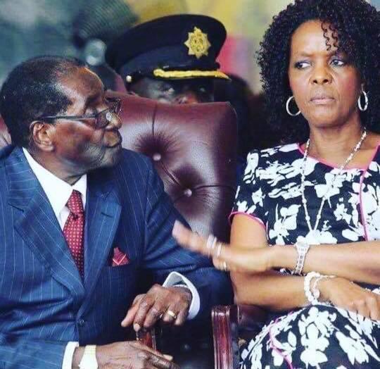 Grace and Robert Mugabe. Facebook.
