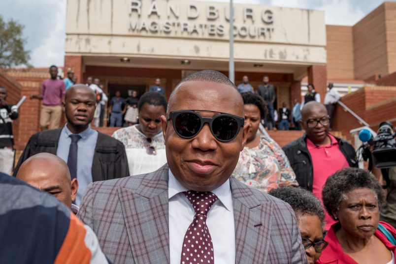 Former Deputy Minister of Higher Education and Training Mduduzi Manana  leaves the Randburg Magistrates Court in Johannesburg on 13 November 2017. The former Deputy Minister was sentenced to 12 months in prison or a R100k fine after pleading guilty to the assault of 3 women at a club called Cubana. Picture: Yeshiel Panchia