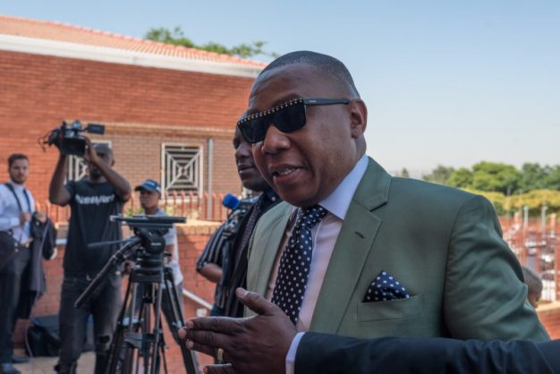 Mduduzi Manana leaves the Randburg Magistrates Court in Johannesburg on 8 October 2017. Manana appeared at the court for a sentencing hearing in his alleged assault of two women in a nightclub earlier in the year. Picture: Yeshiel Panchia