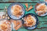Recipe: Milk tart pavlovas with cinnamon shortbread crumble