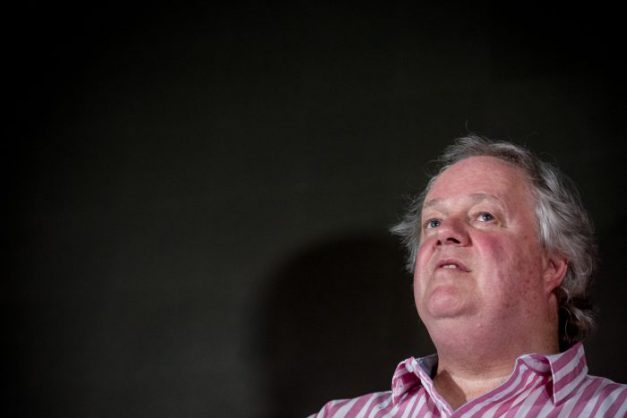 Journalist and author of The President's Keepers Jaques Pauw sits during his book launch at Hyde Park shopping centre in Johannesburg on 8 November 2017. The author's controversial launch was interrupted by an unexplained power outage which shortened the event. Picture: Yeshiel Panchia