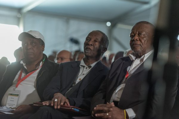 Former President Thabo Mbeki sits during speeches at the National Consultative Conference of the Stalwarts and Veterans of the ANC at Constitution Hill on 17 November 2017. The conference focused squarely on challenges facing the country and party regarding state capture and corruption. Picture: Yeshiel Panchia