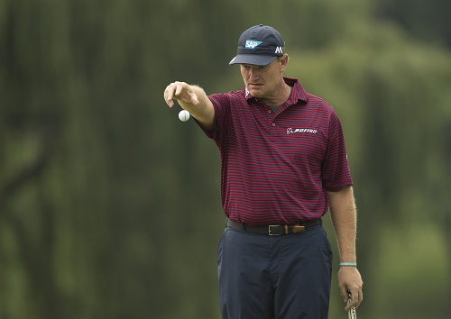 Ernie Els doesn't want to drop the ball again at Glendower. (Photo by Luke Walker/Sunshine Tour/Gallo Images)